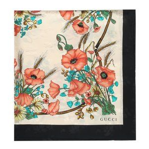 Gucci Floral Jacquard Lady Clicot Scarf in Ivory